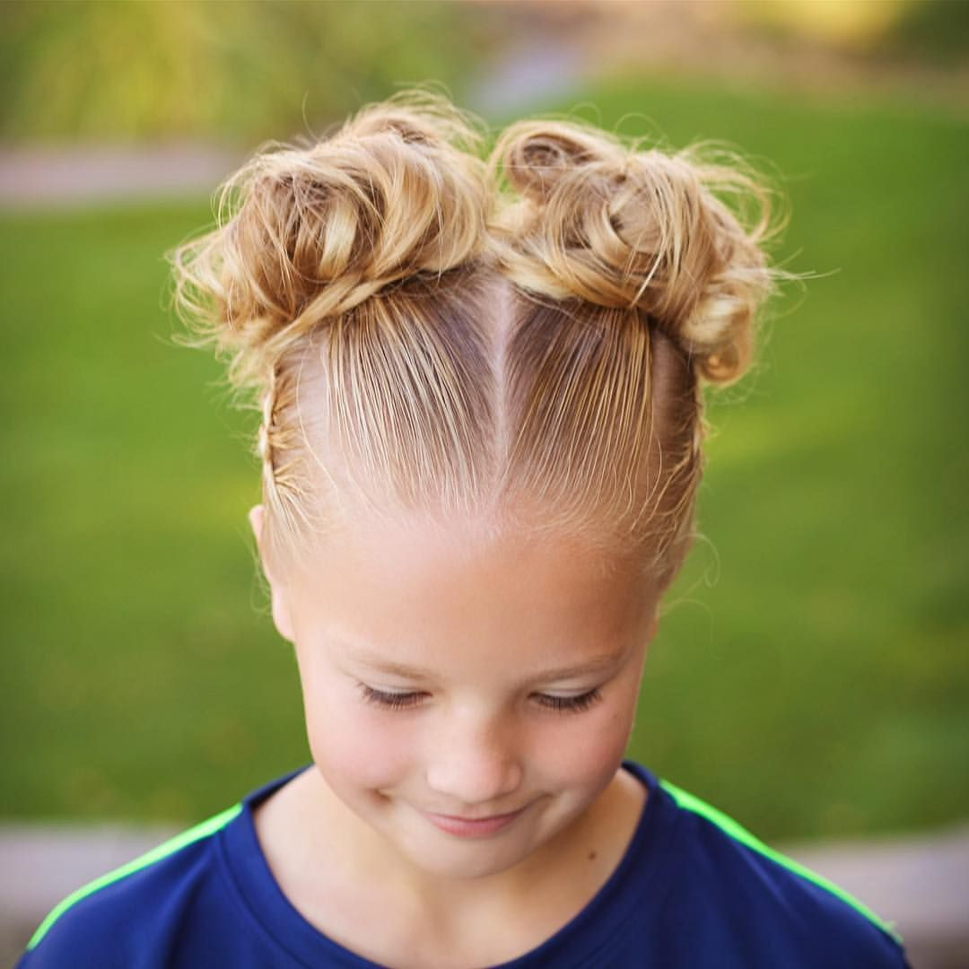Jehat Hair I Think Pigtail Buns Are So Adorable For Soccer Soccer Hair Soccer Girl Hairstyles Kids Hairstyles
