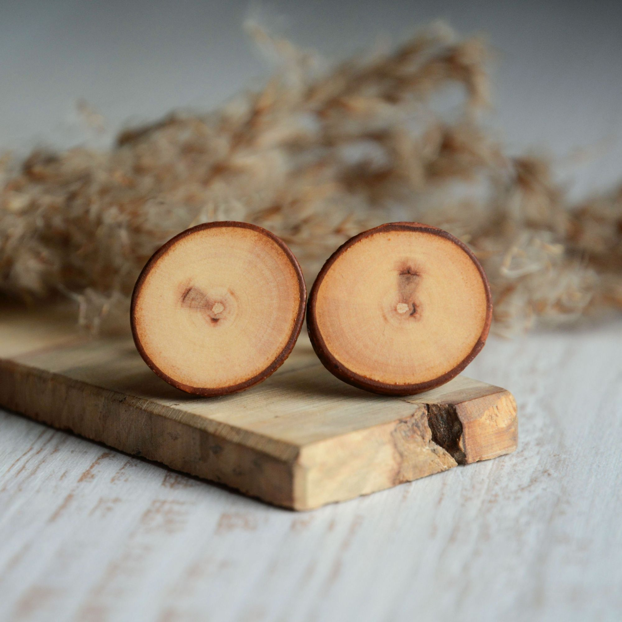 9th anniversary willow wood cufflinks gift idea for the