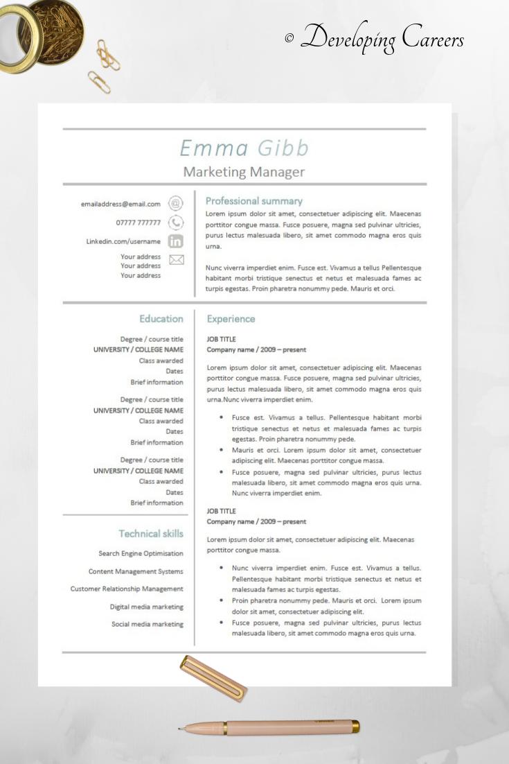 Modern Resume Template Professional Cv Template Cv Design Cover Letter Modern Resume Template Cv Template Resume Design Template