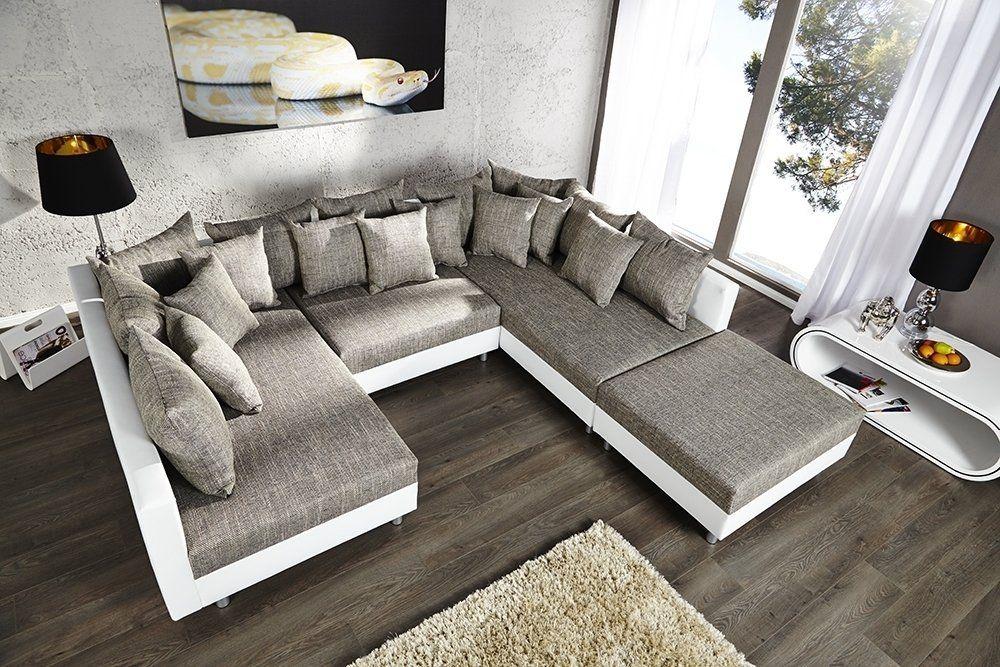 Grosses Design Sofa Loft Xxl Weiss Grau Dizajn Divana Sofa Dlya Doma