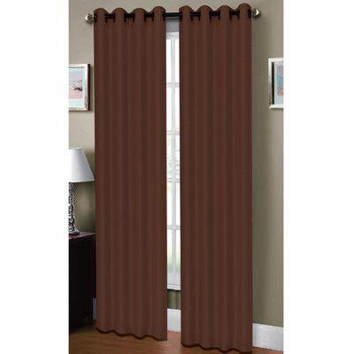 Window Elements Raphael Heathered Faux Linen Extra Wide Grommet Single Curtain Panel Color: