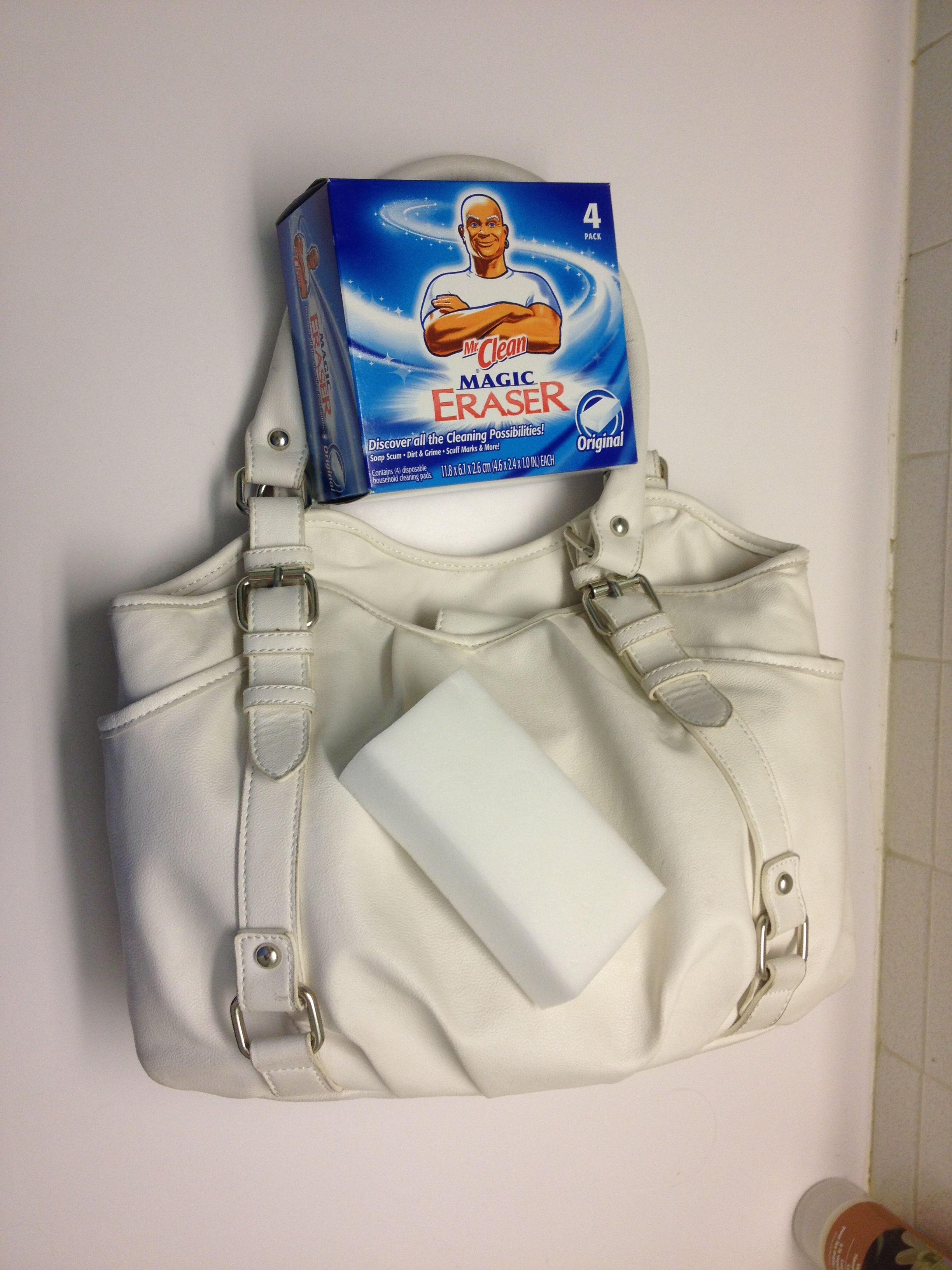 Use Mr. Clean Magic Eraser to clean your white leather!!!  ) 87cffb2a92ab6