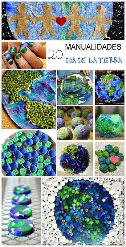 Collage Del Medio Ambiente Con Material Reciclable