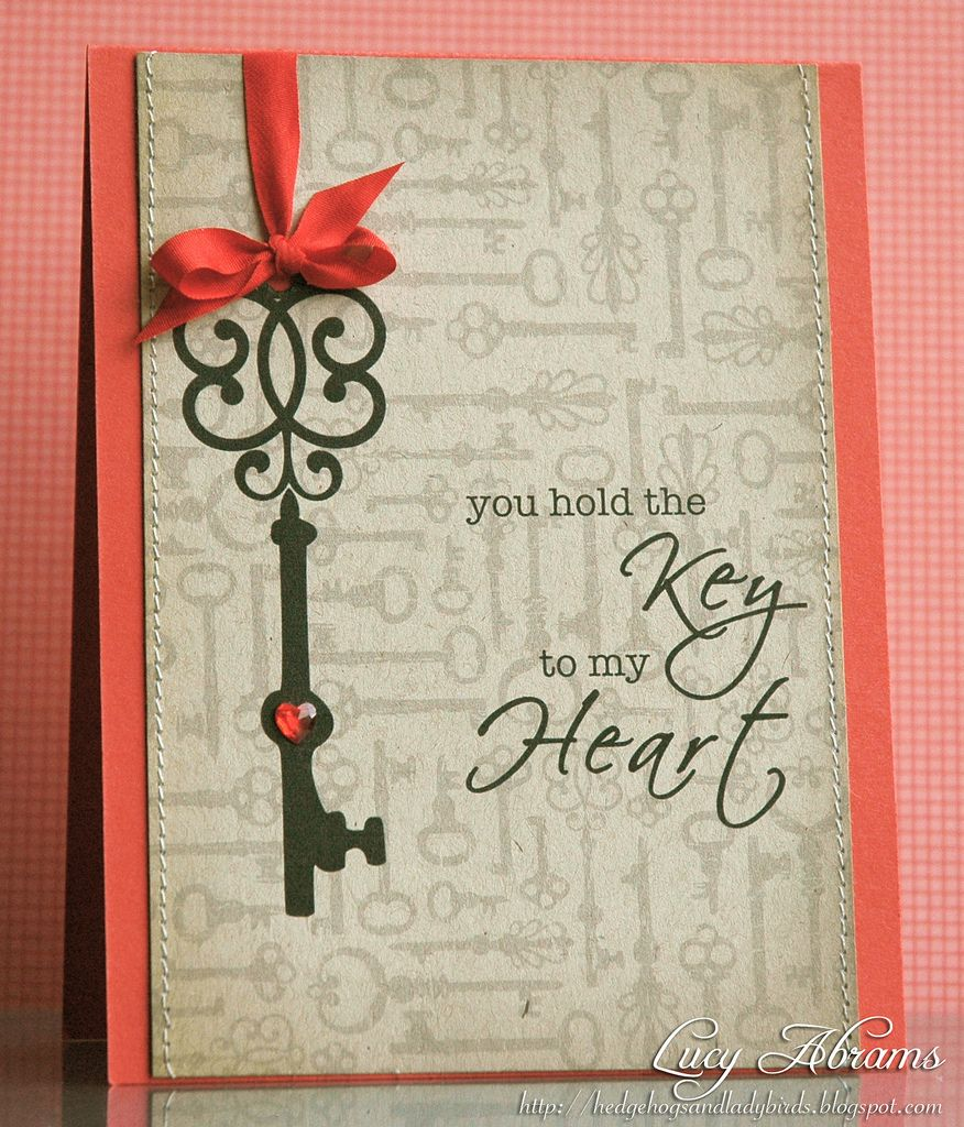 Key To My Heart Cards Handmade Valentines Cards Valentine Day Cards