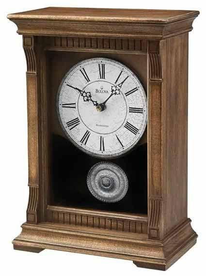 Bulova B7663 Warrick Iii Chiming Mantle Clock With Images Mantel Clock Bulova Clock