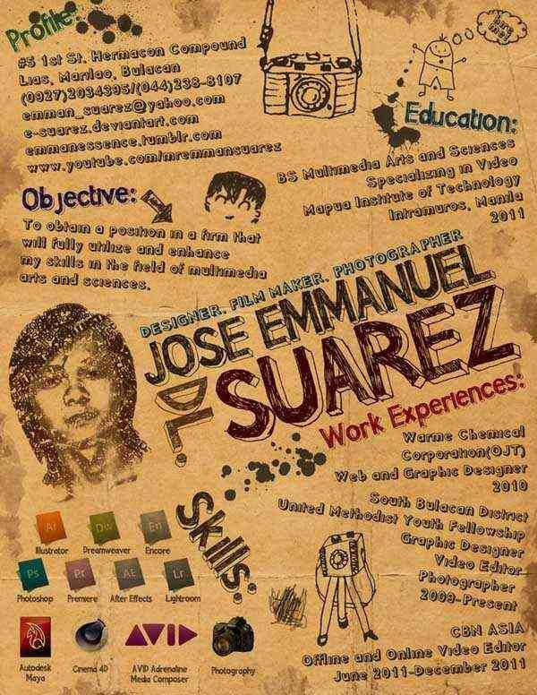 EmmanS Creative Resume By ESuarez  Practical