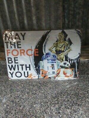 Tin Sign Man Cave Bar Star Wars Quotes