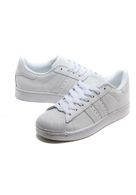 ADIDAS SUPER STAR ALL WHITE  05e94966988