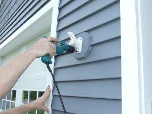 Install A Flag Pole Bracket On Vinyl Siding Home Construction
