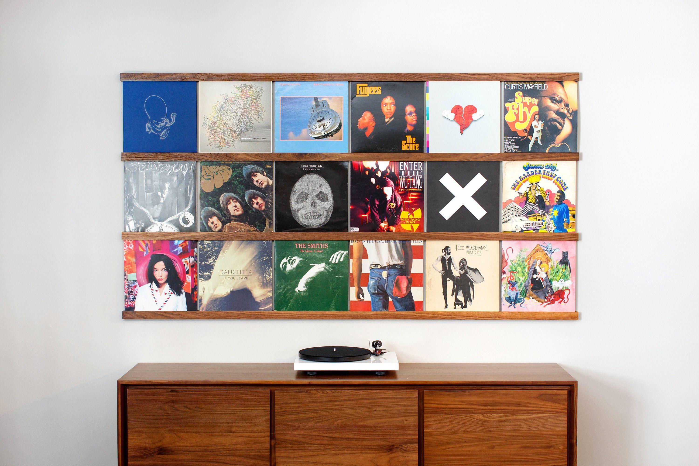 Vinyl Record Storage Shelf Wall Mounted Record Holder