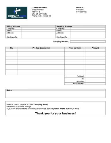 Simple Sale Invoice Template  Invoice Templates