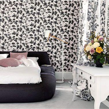 Déco chambre noir et blanc... Et gris, Idées chic | Bedrooms