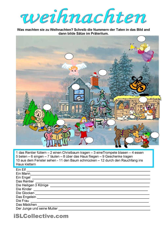 Weihnachten | Weihnachten-DaF/DaZ (NATAL NO CURSO DE ALEMÃO) | Pinterest