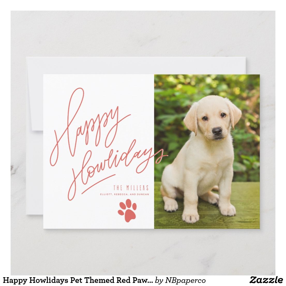 Hy Howlidays Pet Themed Red Paw