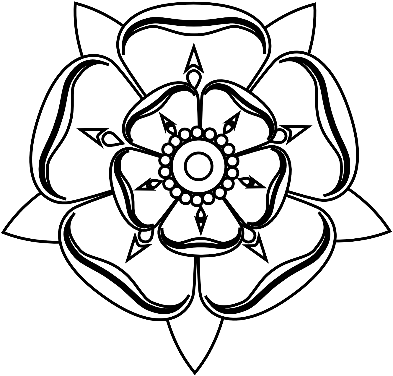rose%20black%20and%20white%20outline | Free Floral, Victorian, and ...