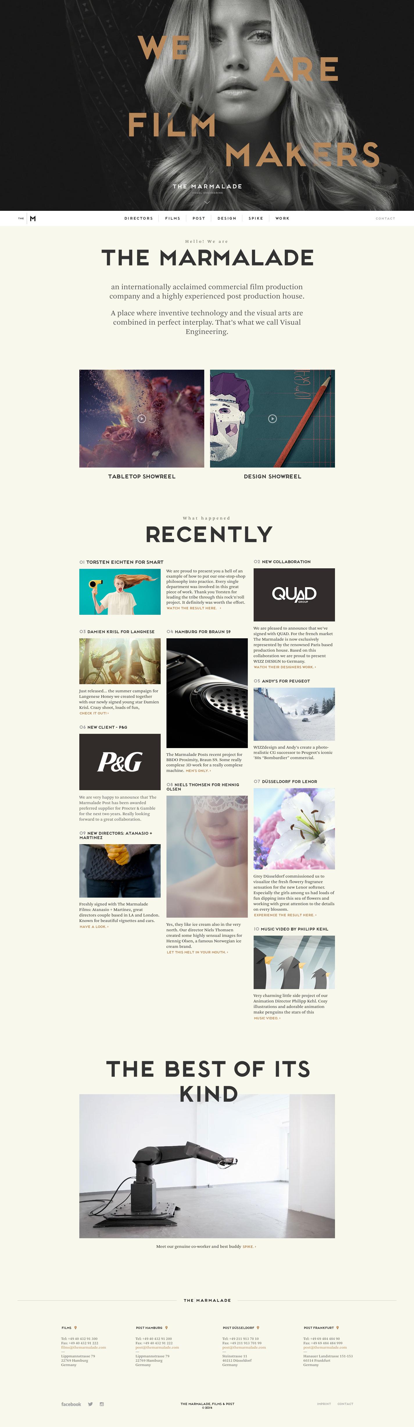 Unique Web Design The Marmalade Via Cvongsak Web Design Minimalist Unique Web Design Web Design Inspiration Digital Design