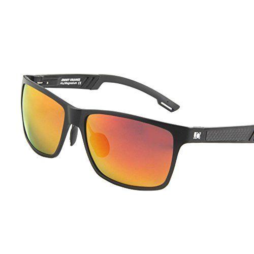 cool Jimmy Orange JO661 Gafas de sol, lente espejada, montura de aluminio,  magnesio