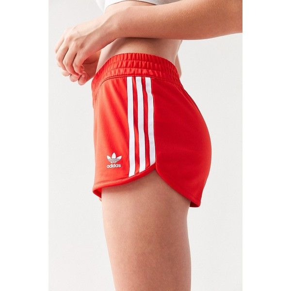 Adidas Originals 3 Stripe Dolphin Short 30 Liked On Polyvore Featuring Shorts Striped Shorts Hot Short S Adidas Shorts Women Short Outfits Adidas Outfit