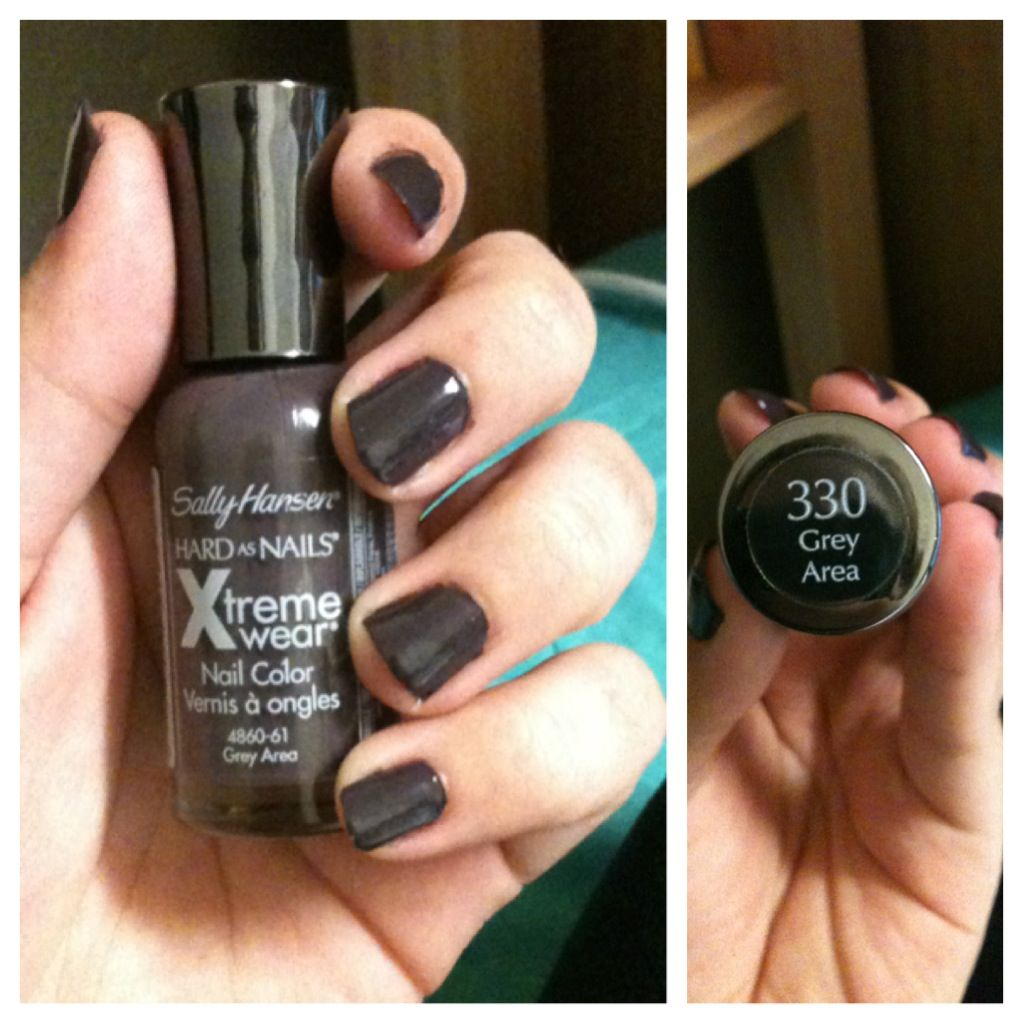 New favorite nail polish. Sally Hansen - Grey Area. <3 (dupe for ...