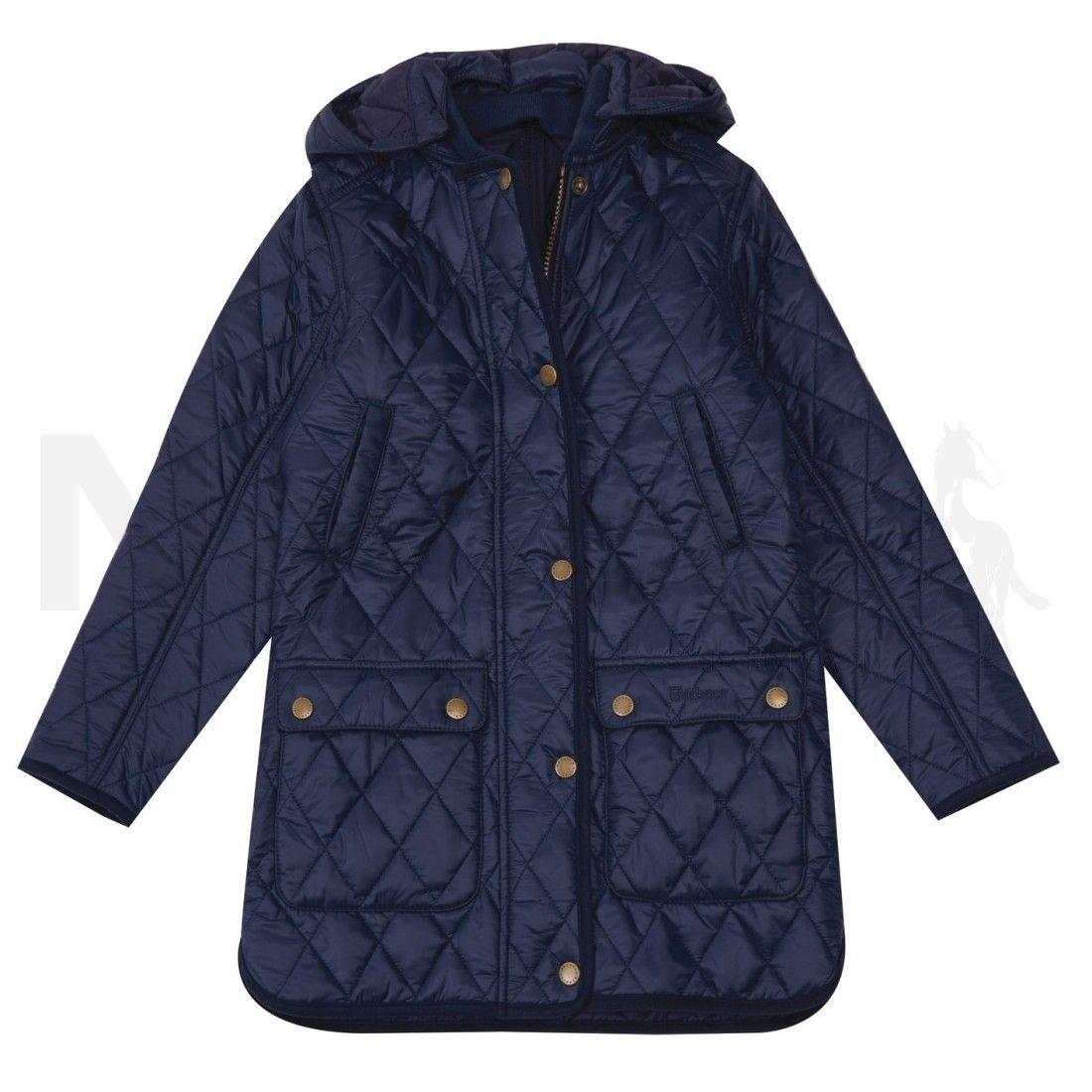 d8b16132 Barbour Girls Combe Quilt Jacket Navy | Barbour A/W 2017 | Pinterest ...