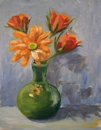 Painting Of Vase Of Flowers Vases Sale Acuarela Pinturas Arte