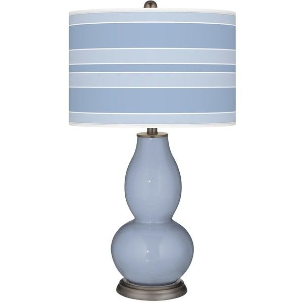 Color Plus Serenity Bold Stripe Double Gourd Table Lamp 150 Liked On Polyvore