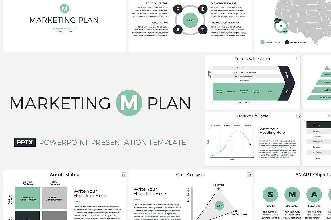 Marketing Plan Presentation Template from i.pinimg.com