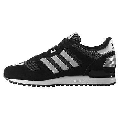Adidas ZX 700 Mens S79185 Black Solid Grey Mesh Athletic