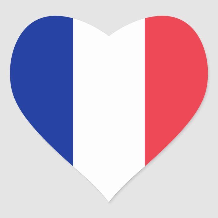 France French Heart Flag Heart Sticker Zazzle Com In 2020 French Flag Heart Stickers Print Stickers