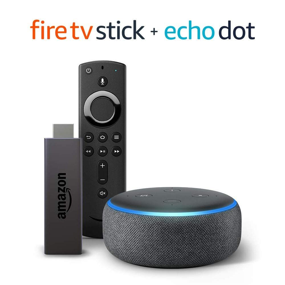 Fire TV Stick with Alexa Voice Remote + Echo Dot 41.99