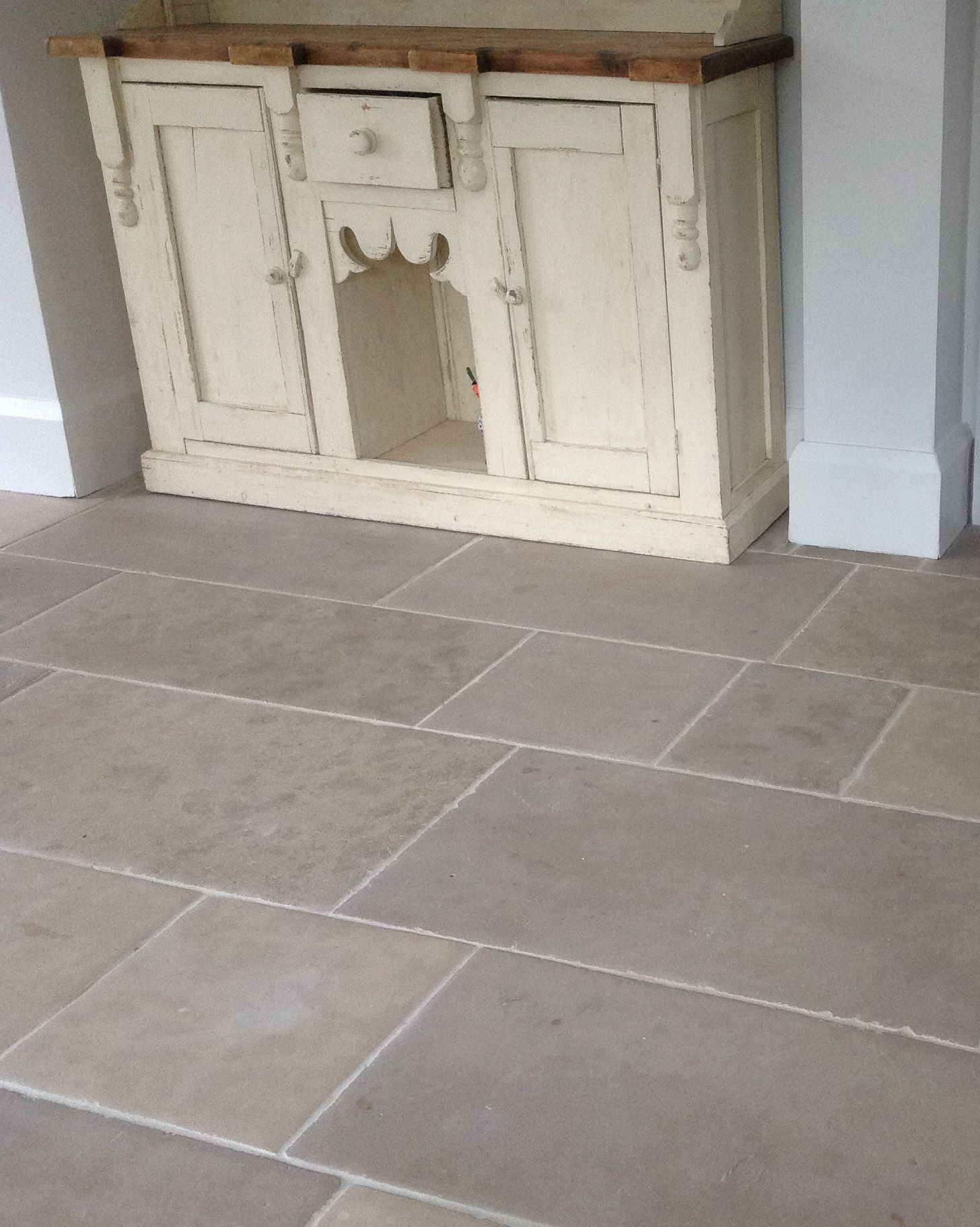 Grey and beige limestone flooring made from montpellier antiqued montpellier has subtle ageing to both the surface and edge and mixed tones from creambeige through to grey a hard wearing limestone dailygadgetfo Choice Image