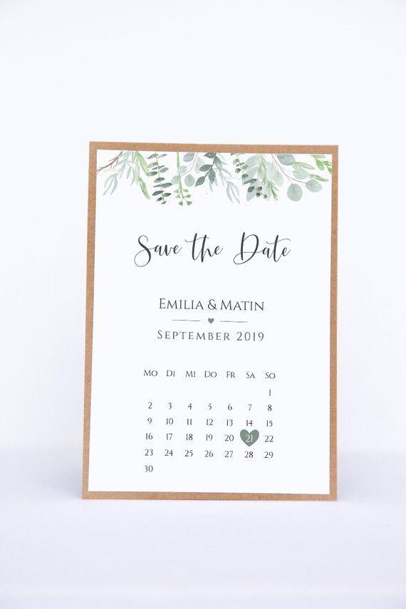 Guardar las tarjetas de fecha con la hoja de calendario – Eucalyptus Love