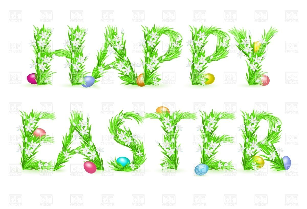 Happy Easter Floral Greeting Card Download Royalty Free Vector File
