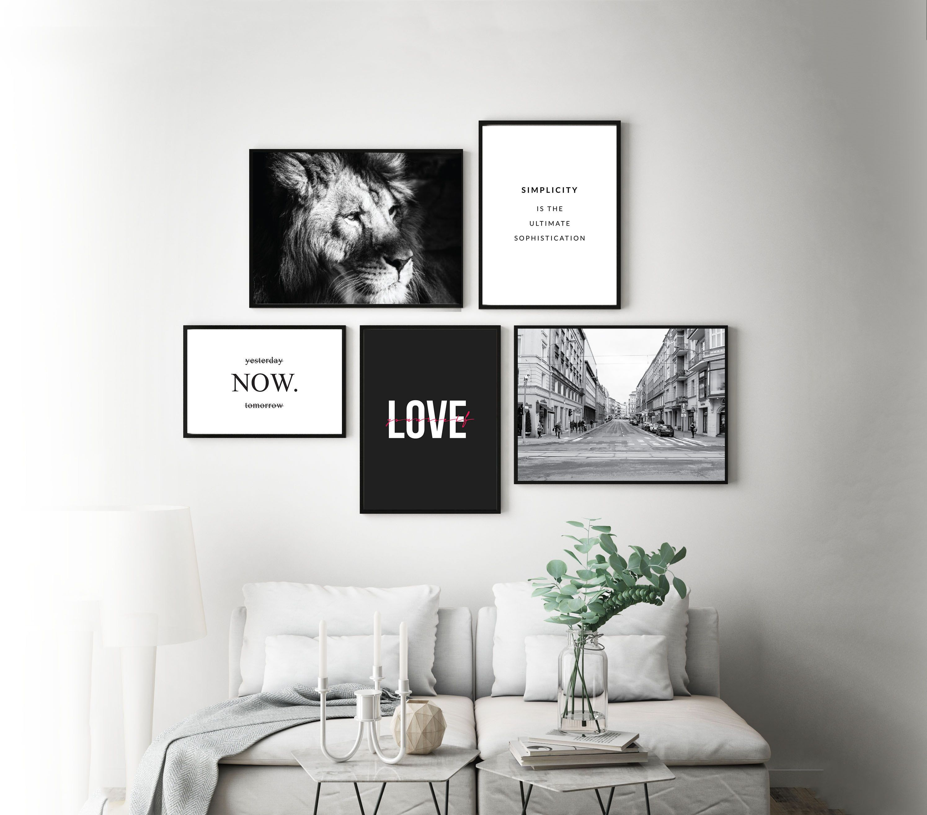 Set of 5 Posters Wall Decor Printable Wall Art Wall Decor Poster sets Digital Download photography Black and White Downloadable Art Gifts #deseniobilderwandwohnzimmer