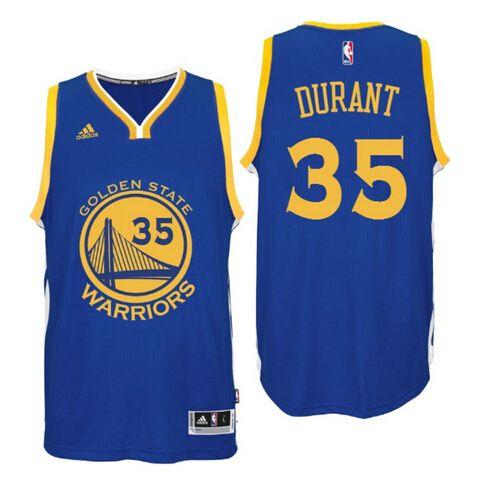5b746c3b8 NBA Golden State Warriors Men s Stitched  35 Durant warriors Blue Jersey