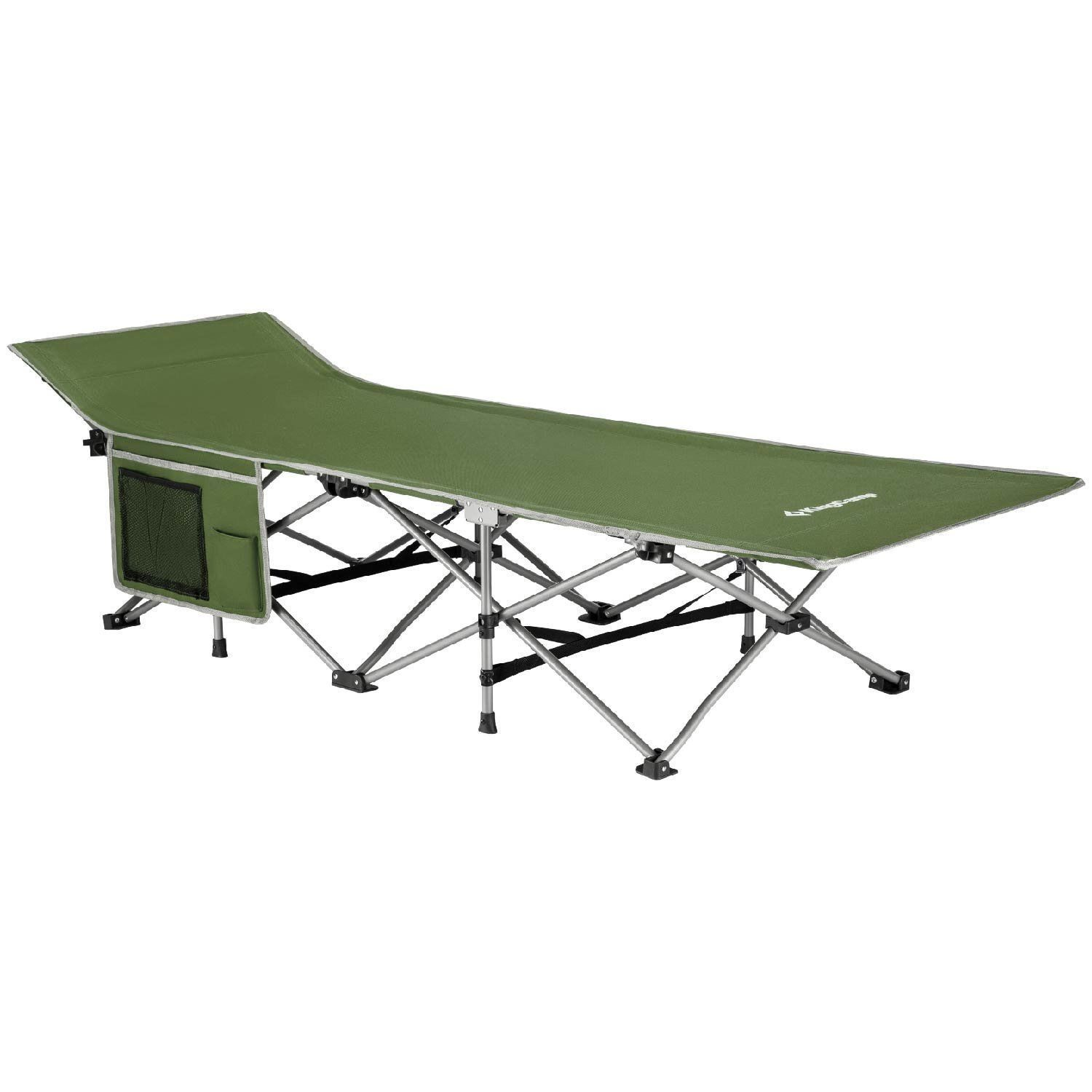 - Camping Cots For Adults Portable Outdoor Folding Bed Steel Frame