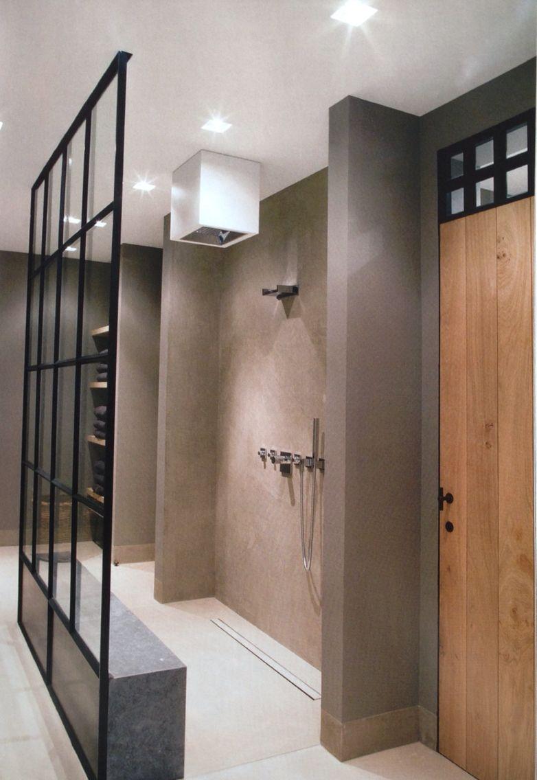 badkamer indeling loft style bathroom pinterest