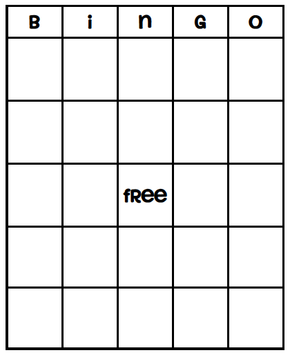 Blank Bingo Card Template Every Ever Imagined Has Been Created Use For Dr Seuss Week