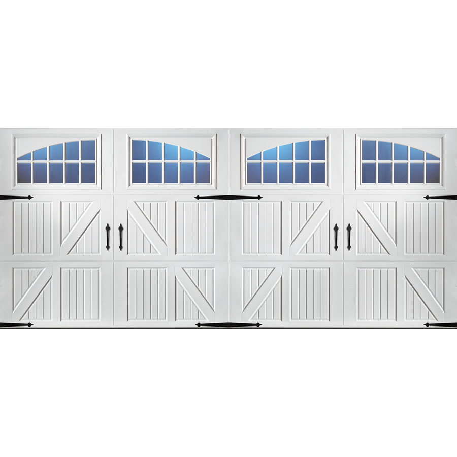 Pella Carriage House 192 In X 84 In White Double Garage Door With Windows At Lowes Com Garage Doors Double Garage Door Garage Door Styles