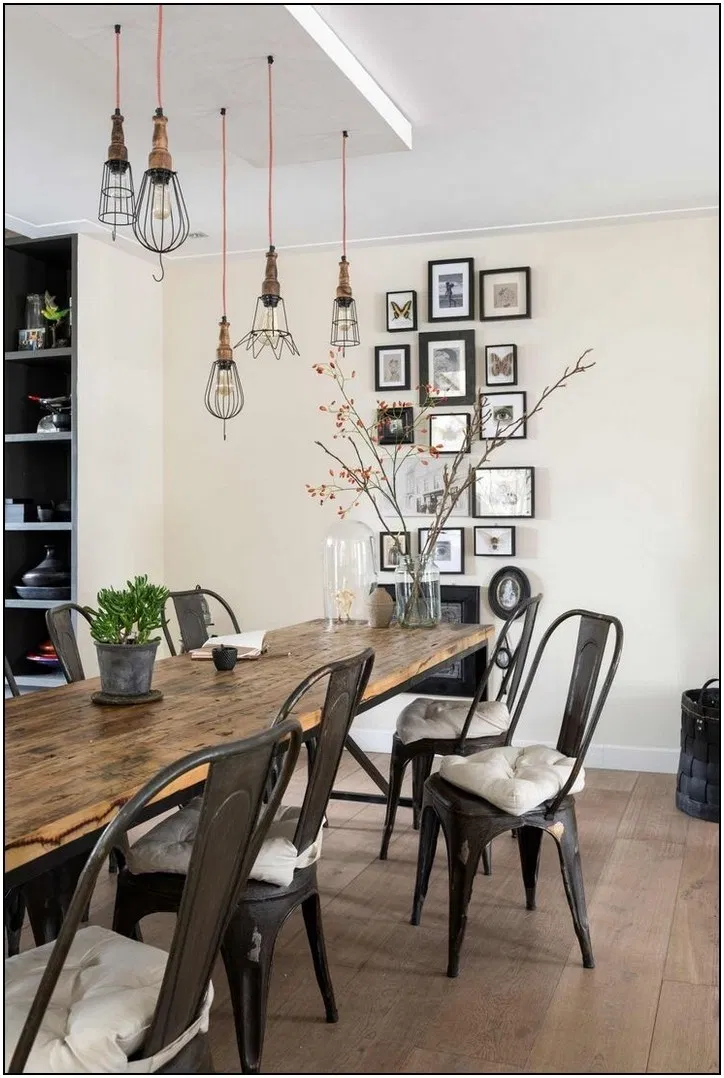 135 Amazing Farmhouse Dining Room Decorating Ideas 2019 2020 31 Homydepot Com In 2020 Dining Room Industrial Rustic Dining Room Dining Room Design