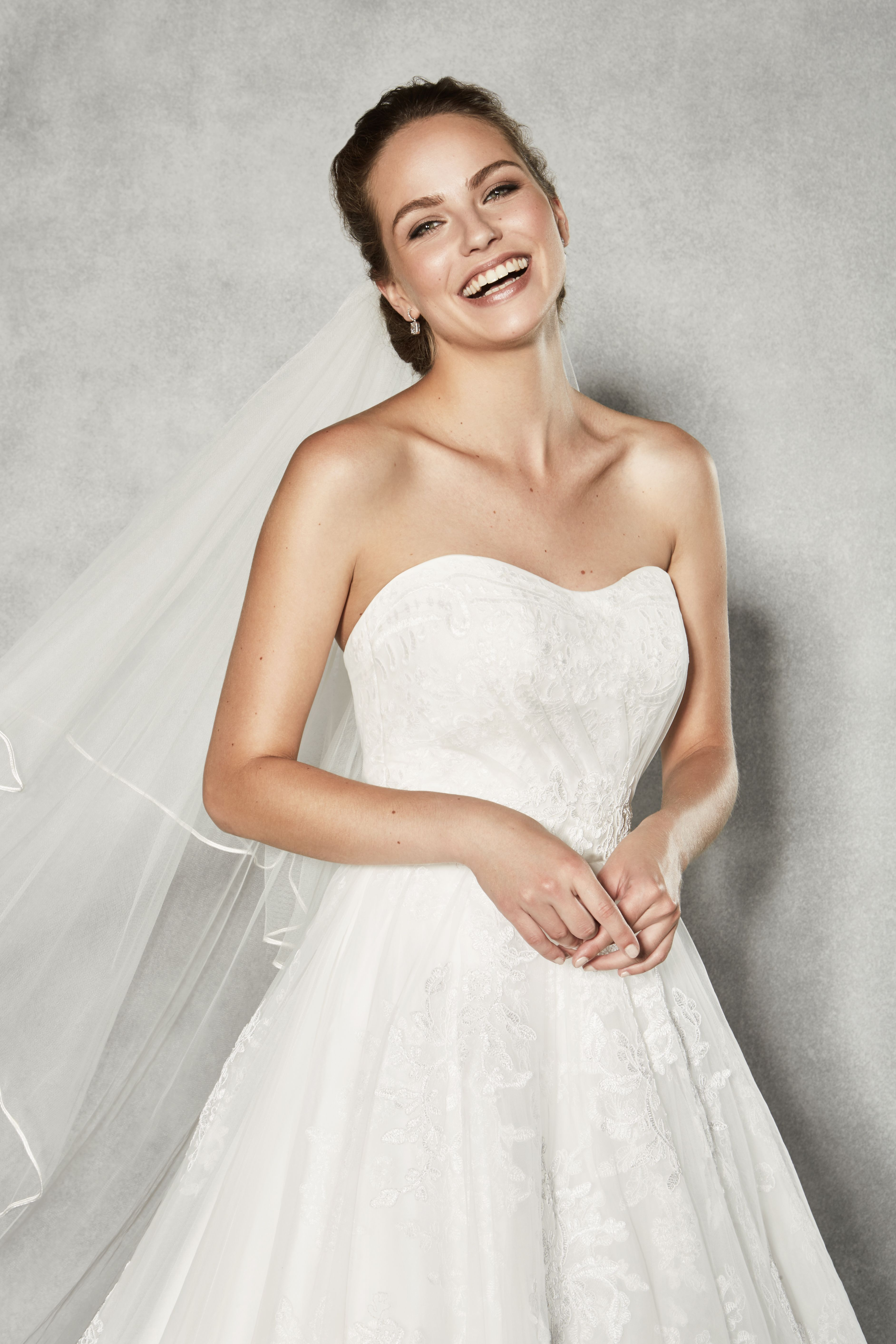 Lace dress wedding  The stunning uBrookeu by Anna Sorrano Could this strapless lace