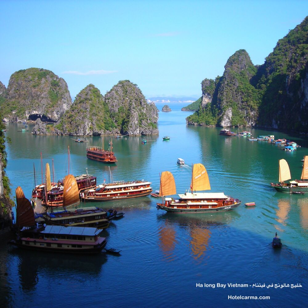 Ha Long Bay Vietnam خليج هالونج في فيتنام Www Hotelcarma Com Hotelcarma Halong Vietnam Travel I Vietnam Travel Halong Bay Vietnam Wonders Of The World