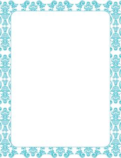blue damask border printables pinterest page borders border