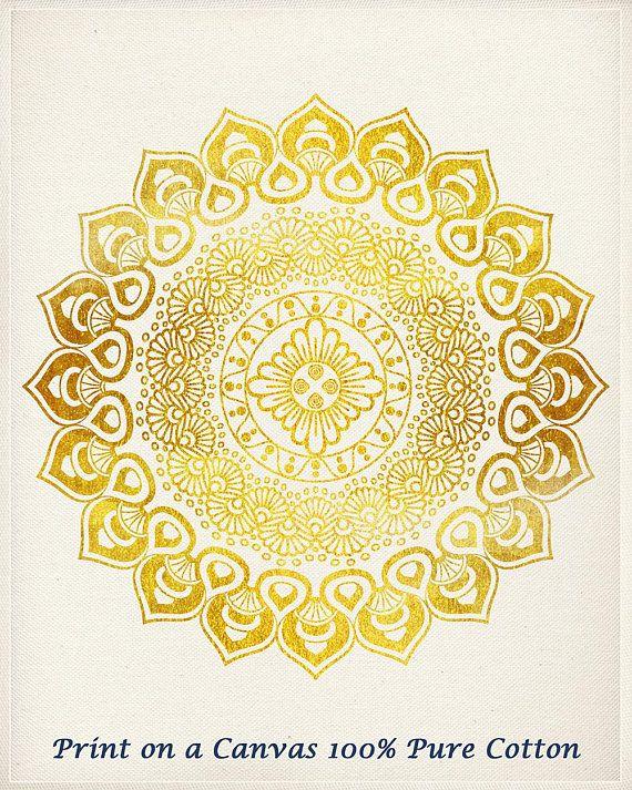 Mandala Wall Art Set of 2 prints Hindu Wall Decor Golden #artprint ...