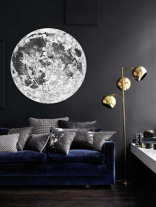 Full Moon Wall Decal Astronomy