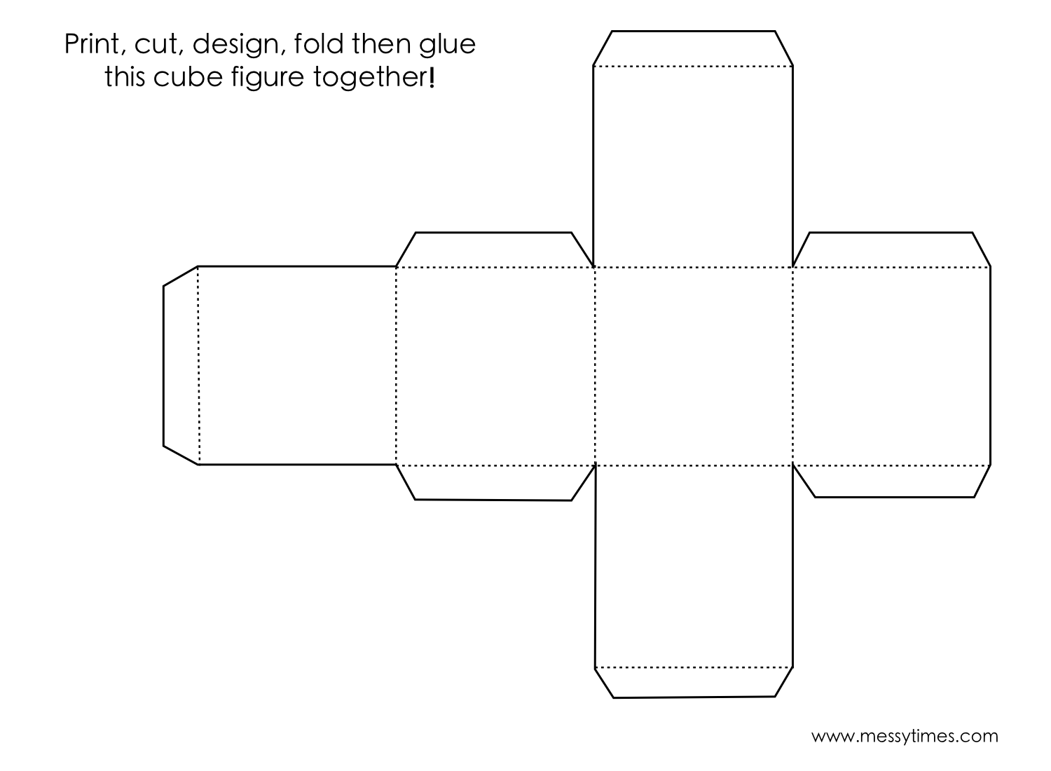 A 3D cube object to cut, design, fold and glue together ... - photo#11
