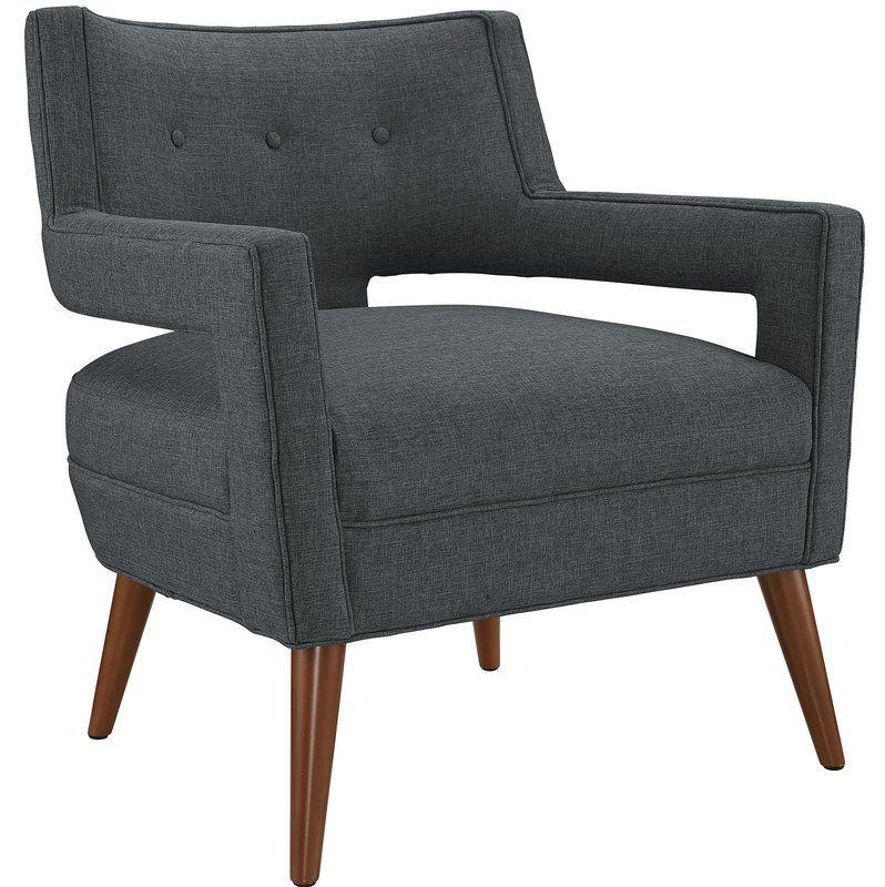 Sheer Armchair Gray By Wayfair Fabric Armchairs Armchair