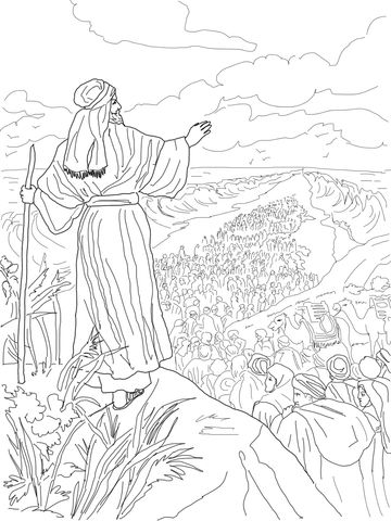 Israelites Crossing The Red Sea Coloring Page From Exodus Category Select 27278 Printable Crafts Of Cartoons Nature Animals Bible And Many More