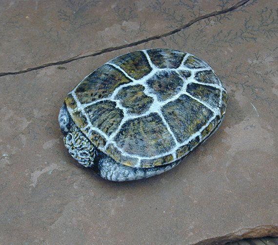 Turtle Rock - Painted Rocks  by Artist Konnie Laumer -  at MakingKonnie