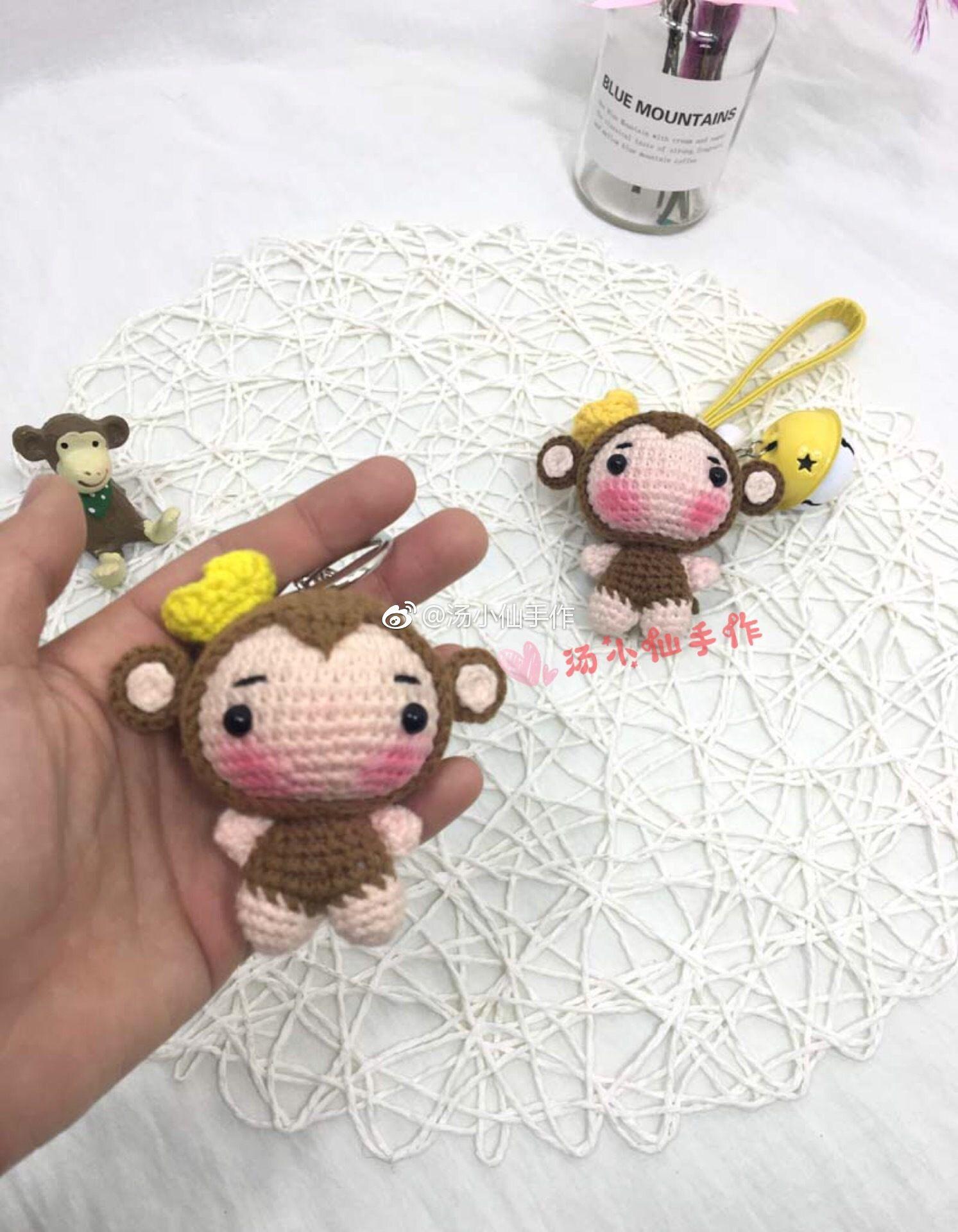 Kawaii unicorn keychain, Amigurumi keychain animal, Crochet keychain ...